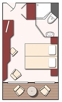 Kabinen-Grundriss Deluxe-Doppelkabine