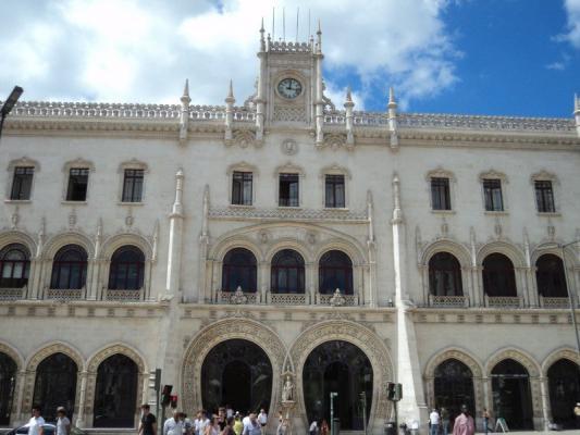 Der Rossio Bahnhof, Lissabon