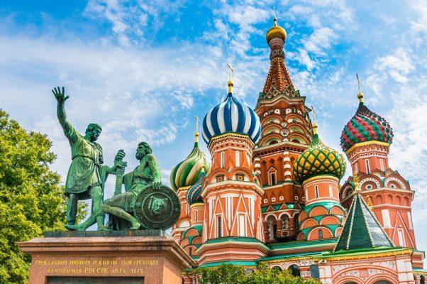 Basilius-Kathedrale. Reise nach Moskau und St. Petersburg