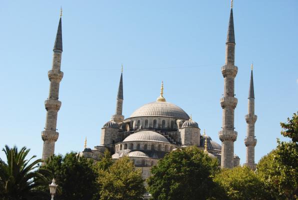 Blaue Moschee in Istanbul.
