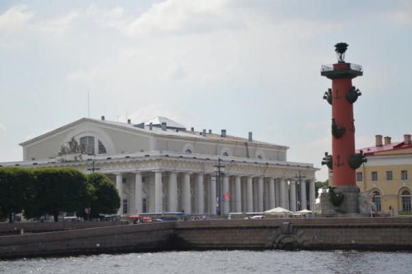Die Börse auf der Wasiljewski-Insel, St. Petersburg