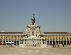 Praça do Comercio in Lissabon