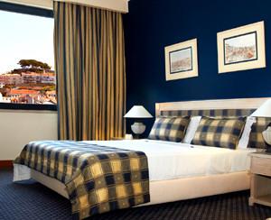 Ein Doppelzimmer im Hotel Mundial Lissabon