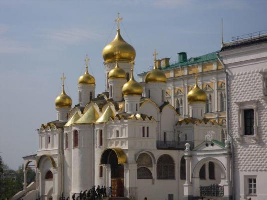 Kathedrale auf dem Kremlgelände in Moskau