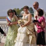 Hochzeitspaar in Peterhof
