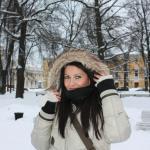 Unsere Kundin im Winter in St. Petersburg
