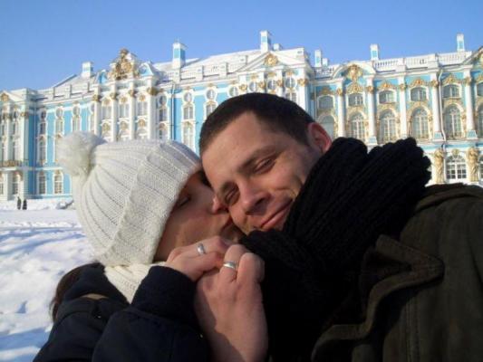 Unsere Kunden feiern ihren Hochzeitstag in St. Petersburg
