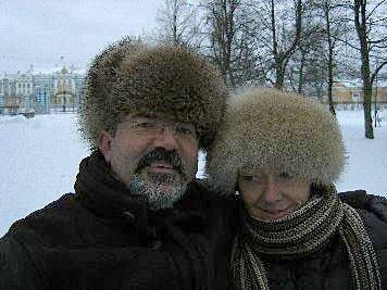 Unsere Kunden im Winter vor dem Katharinen-Palast