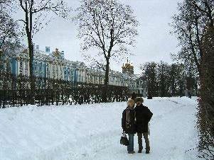 Unsere Kunden in Puschkin vor dem Katharinen-Palast