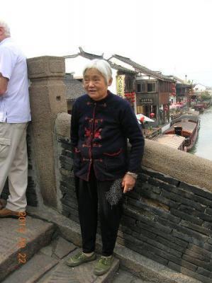 Kunden fotografieren: Ältere Dame in Suzhou