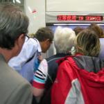 In der U-Bahn in Shanghai