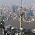 Blick von SWFC Tower über Shanghai