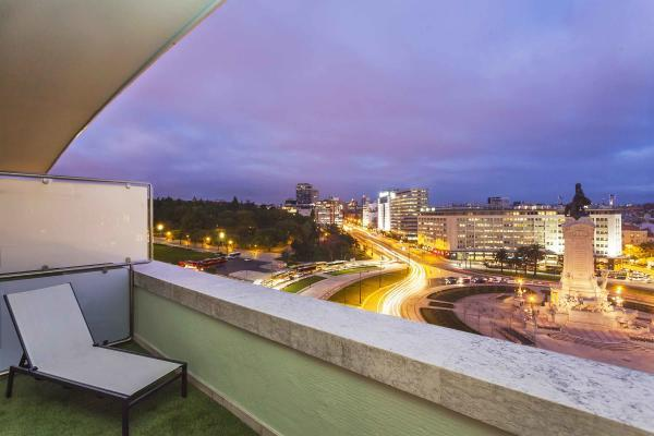 Ausblick vom Hotel HF Fenix Lisboa