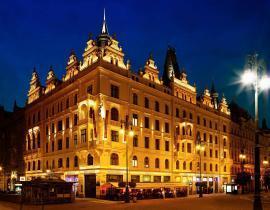 Außenansicht vom Hotel Kings Court Prag