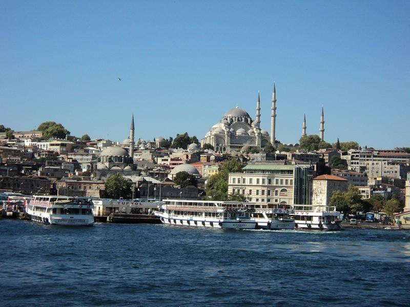 Bootstour auf dem Bosporus in Istanbul, Süleymaniye-Moschee, Städtereise Istanbul