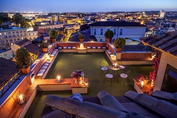 Dachterasse ROM Hotel Colosseum