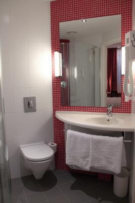 Badezimmer im Hotel IBIS Bakhrushina