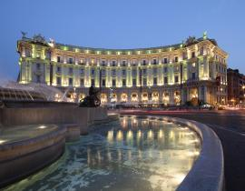 ROM; Rom Fassade Hotel Boscolo Exedra 5-Sterne