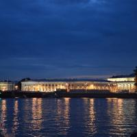 St. Petersburg Newa bei Nacht