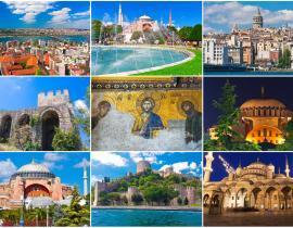 Istanbul Collage Hagia Sophia