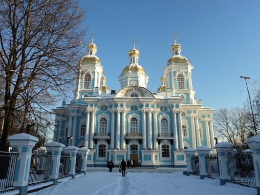 Nikolaus Marine Kathedrale in St. Petersburg