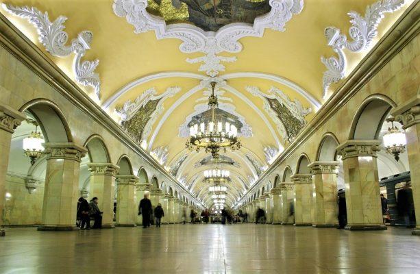 Metrostation Komsomolskaya, Moskau