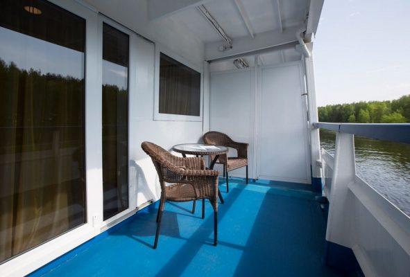 Balkon Bootsdeck MS M. Rostropovich, Flusskreuzfahrt