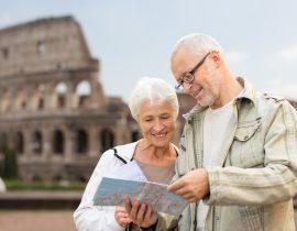 Rom Touristen vor dem Kolosseum