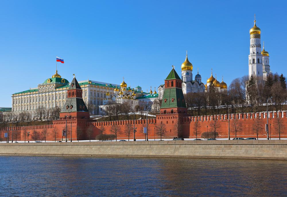 Der Moskauer Kreml am Moskwa-Ufer