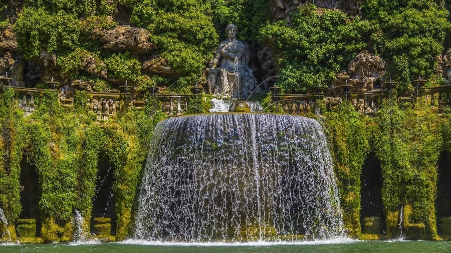 Tivoli, Villa d'Este, Parks in Rom