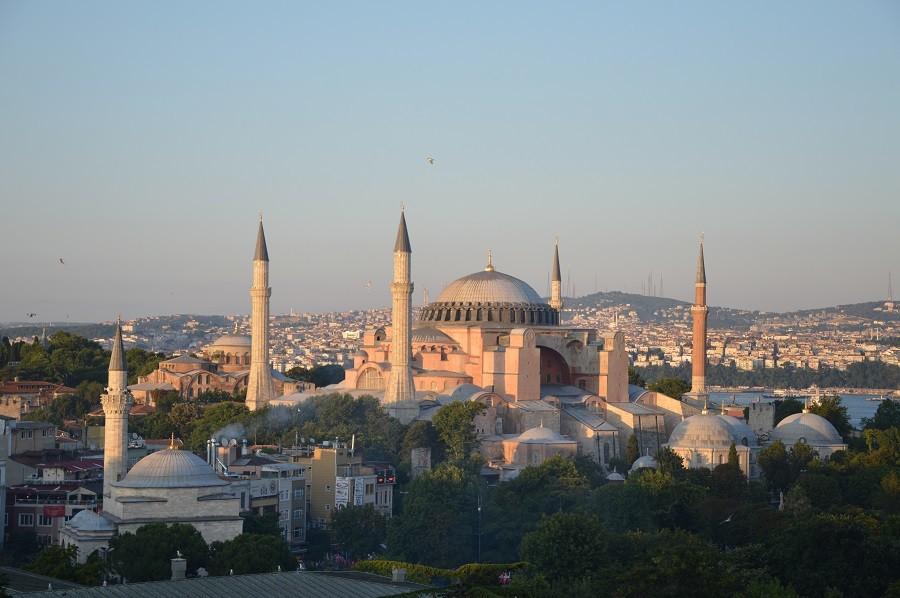 Hagia Sophia Istanbul im Juli