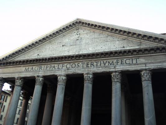 Die Vorderseite des Pantheon