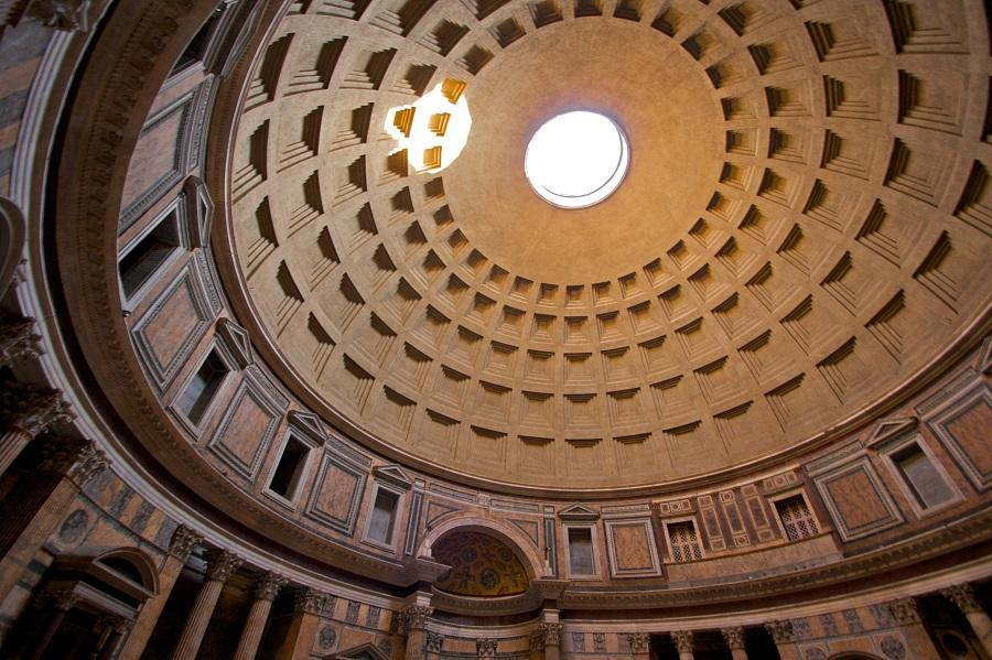 Kuppel im Pantheon in Rom