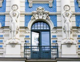 Jugenstil in der Alberta iela in Riga