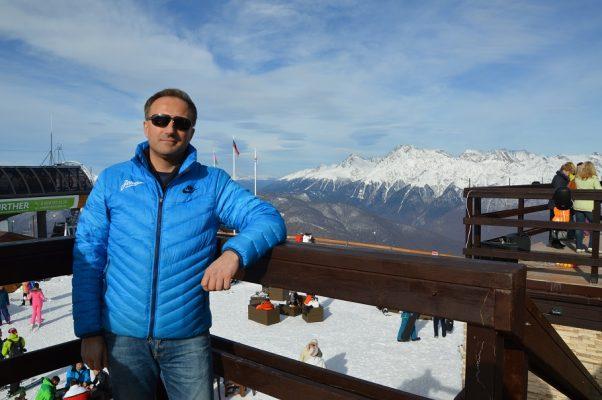 Geschäftsinhaber Alexander Kudriavtsev in Sotschi