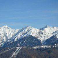 Skigebiet in Krasnaja Poljana, Sotschi