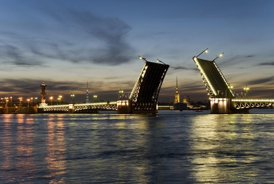 St. Petersburg Newa Weiße Nächte