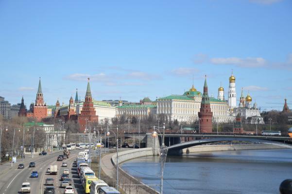 Moskauer Kreml mit Moskwa - Panorama