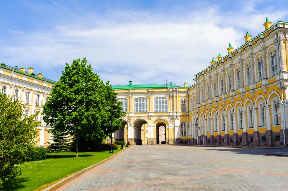 Die Rüstkammer von außen im Moskauer Kreml