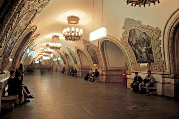 Metro Station Kievskaya in Moskau