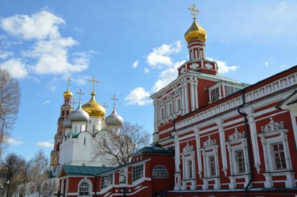 Teilansicht des Neujungfrauen-Klosters in Moskau