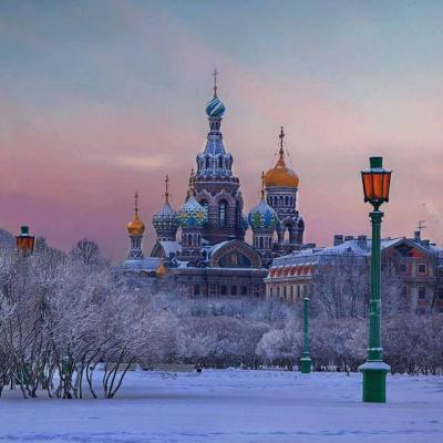 Erlöserkirche, Silvester in St. Petersburg