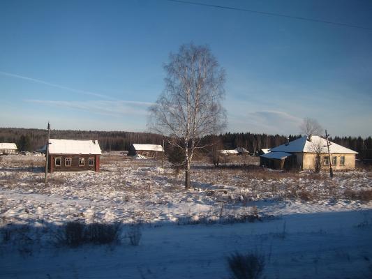 Transsibirische Eisenbahn - Blick aus dem Fenster