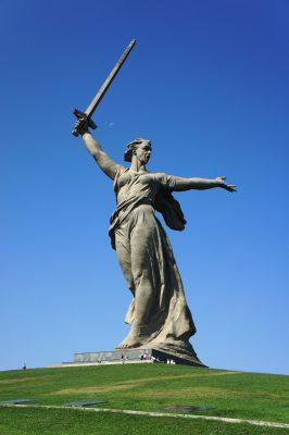 Wolgograd: die ehemals größte freistehende Statue der Welt
