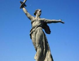 Die ehemals größte freistehende Statue der Welt Wolgograd