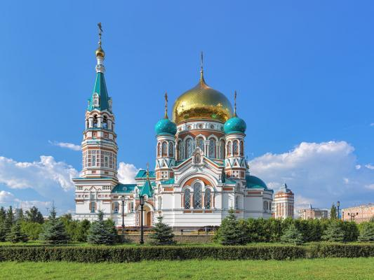 Kathedrale in Omsk.
