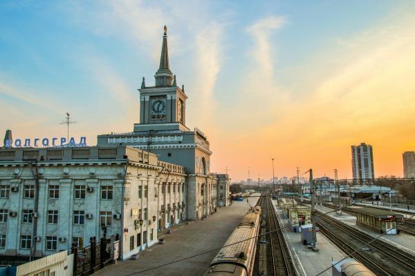 Stalingrad heute: Wolgorad, das Bahnhofsgebäude