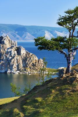 Transsibirische Eisenbahn -Baikalsee