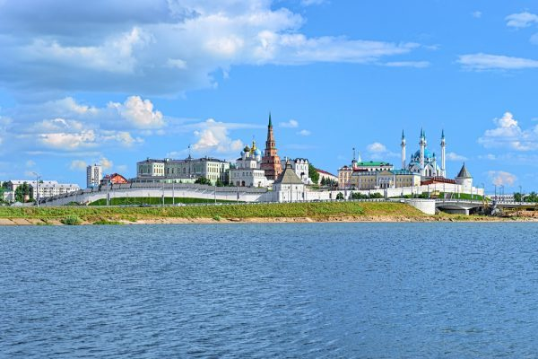 Moskau Kasan: Blick auf den Fluß-Kasanka