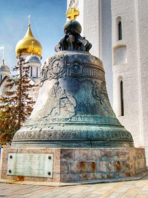 Zarenglocke auf dem Kathedralen-Platz des Moskauer Kreml